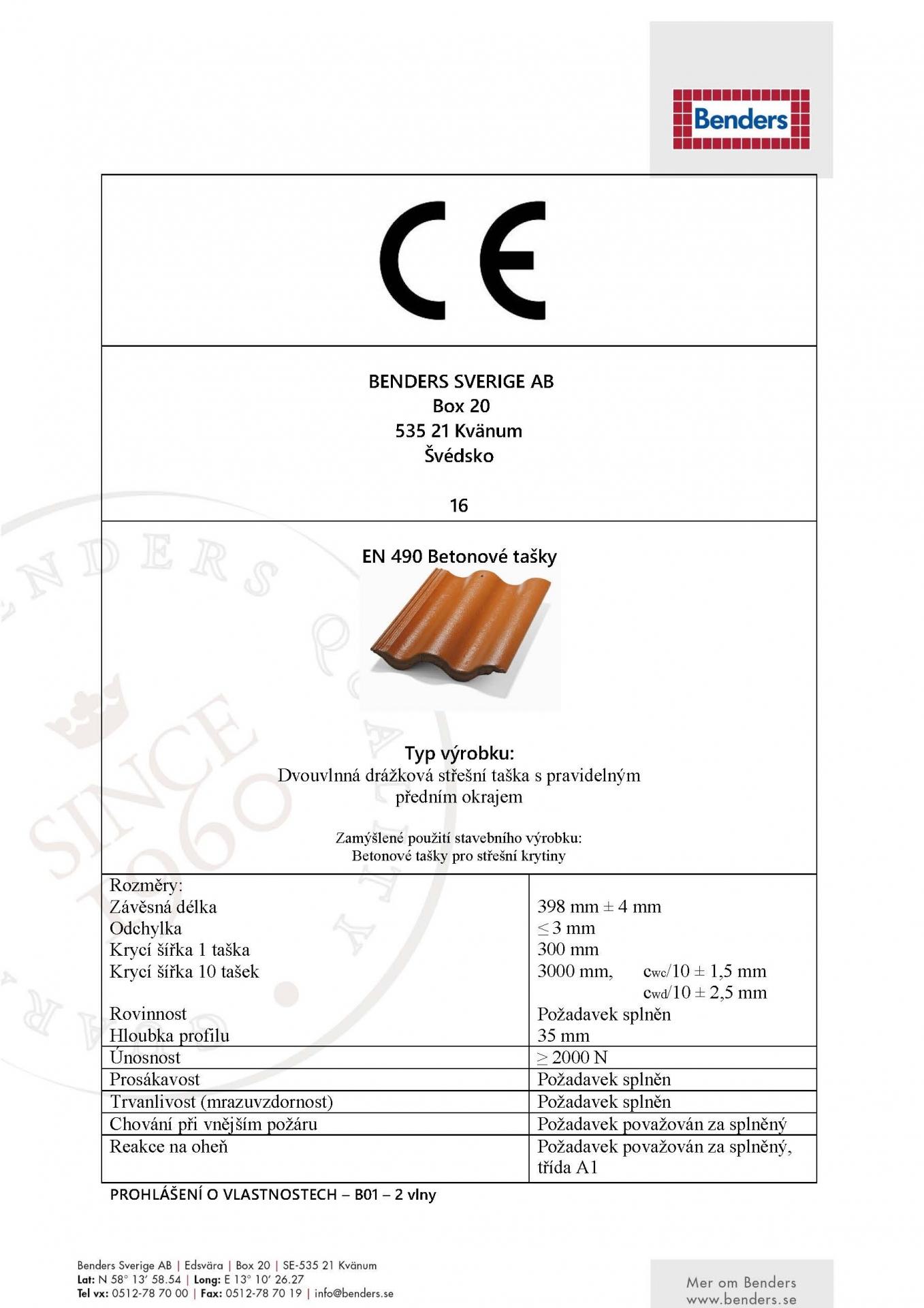 CE-certifikát prohlášení o shodě-Palema