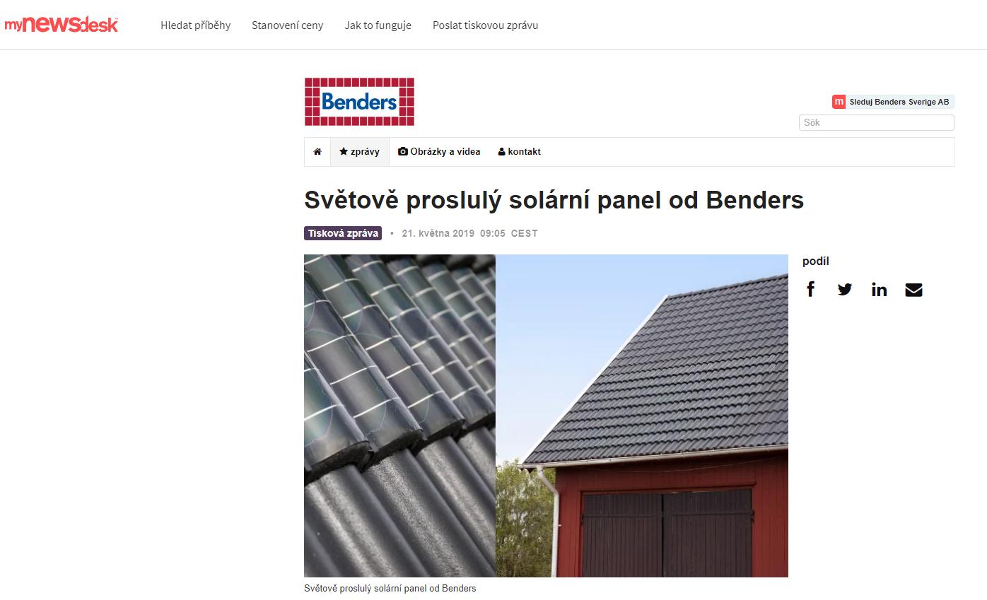 Solární články Benders Palema